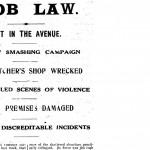 Wanganui Chronicle - deutsche Metzgerei verwüstet