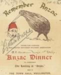 Anzac Dinner 1917