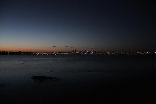 Auckland bei Morgenröte
