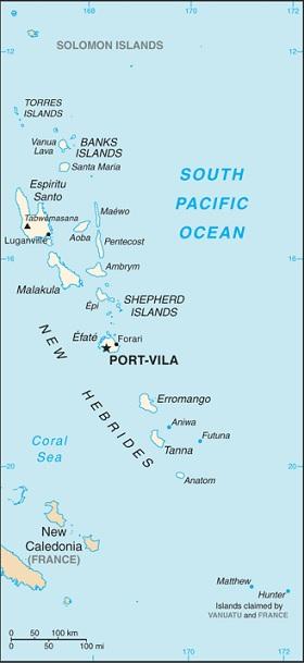 Vanuatu Karte (Quelle: CIA World Factbook)