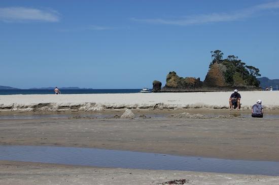 Whangapoua Beach im Zustand der Überfüllung