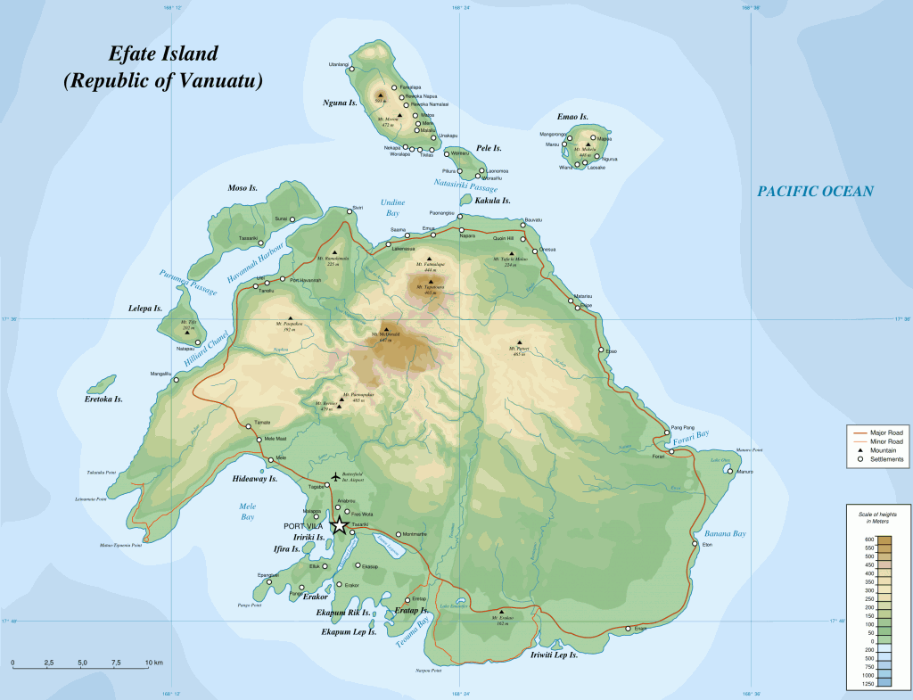 Karte der Insel Efate