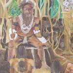 Gemälde einer Stammesversammlung - Lobby des Parlaments in Port Vila