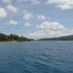 Lelepa links, Samoa Point rechts