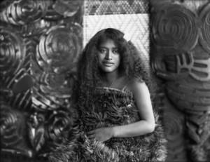 Unbekannte Maori Schönheit ca. 1905 in Te Rauru - ATL Ref: 1/1-006853-G