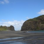 Whatipus Paratutae Insel ist eigentlich eine Halbinsel