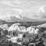 Hochstetter: Tongariro und Ruapehu; ATL Ref: PUBL-0121-354