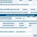 New Zealand Arrival Card