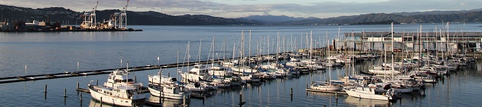 Wellington yacht marina, New Zealand