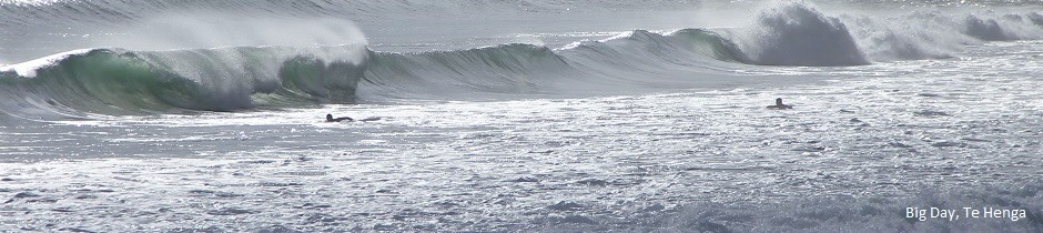 Big day at Bethells, Te Henga, New Zealand