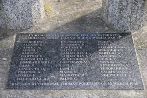 Gedenken an italienische Internierte während des Zweiten Weltkriegs