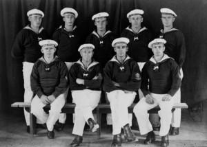 Einige Angehörige der Luckner Crew am 19.02.1918