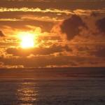 Pazifischer Sonnenuntergang