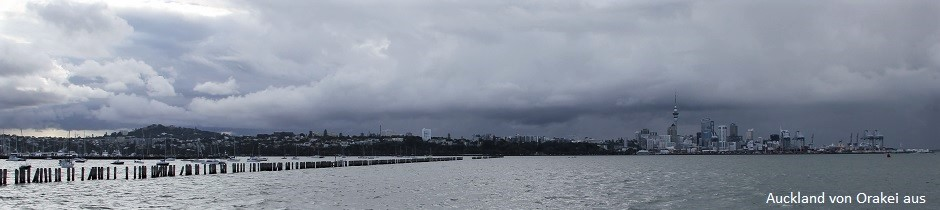 Auckland, New Zealand, seen from Orakei