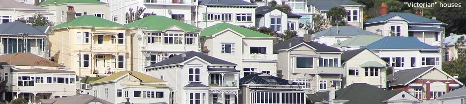 Victorian houses, Wellington, New Zealand
