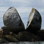 Split Apple Rock am Südende des Abel Tasman Coastal Track - keine Ahnung warum das eine Attrraktion sein soll