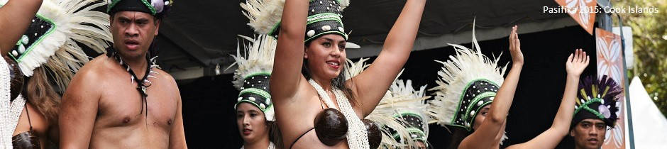 Cook Islands dancers, Pasifika 2015 festival in Auckland, New Zealand