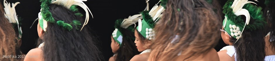 Tahitian dancers at the Pasifika 2015 festival in Auckland, New Zealand