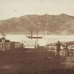 Der mutmaßliche Blick vom Standort der deutschen Botschaft in der Hobson Street, Wellington ca. 1859. (c) ATL Wellington
