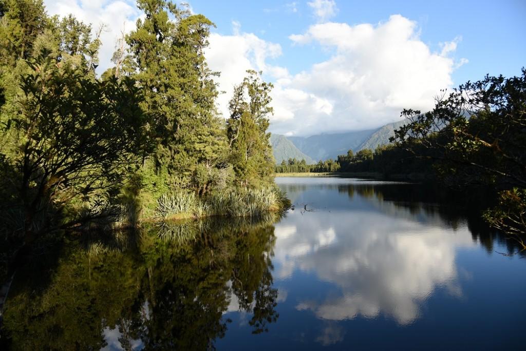 Die klassische Spiegelung am Lake Matheson