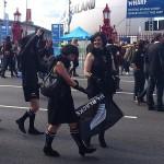 Glückliche All Blacks Fans in Auckland 2011