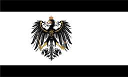 Flagge des Königreichs Preußen (1892 - 1918); Von David Liuzzo [Copyrighted frei], über Wikimedia Commons.