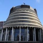 Beehive, der Amtssitz der neuseeländischen Premierminister in Wellington