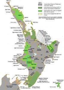 Waitangi Treaty Einigungen zwischen Krone und Iwi (c) OTS